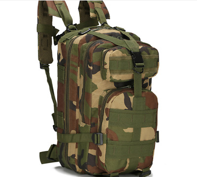 30L Hiking Camo Camping Bag Army Military Tactical Trekking Rucksack Backpack