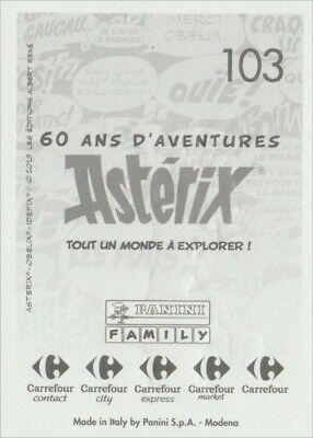Lot de 6 cartes stickers au choix- Panini Astérix Asterix Carrefour