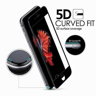 5D Full Coverage 9H Tempered Glass Screen Protector Film For iPhone 7 6S 8 Plus