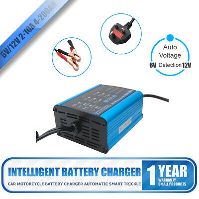 6 12 Volt 10 6 2 Amp 10a Car Motorcycle Marine Battery Charger Pulse Repair Type