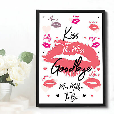 Personalised Hen Party Accessories Bride To Be Kiss The Miss Goodbye Do Gifts