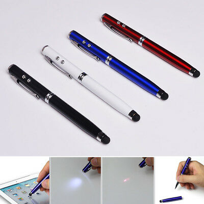 4-in-1 Screen Stylus Light Ball Point Pen Laser Pointer For Capacitive Touch