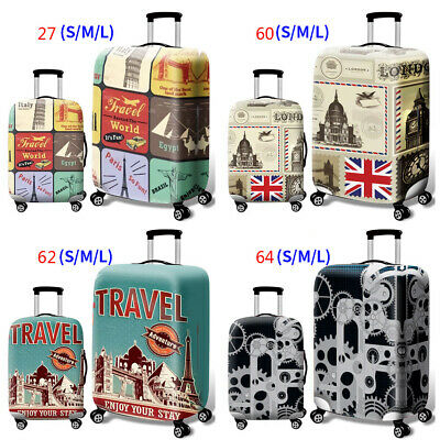 Print Luggage Cover Suitcase Protector Elastic Guard For Travel 18/20/24/28 Inch