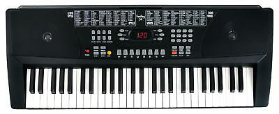 Digital Keyboard 54-Tasten E-Piano Klavier Sound Rhythmen Lernfunktion schwarz