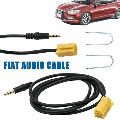 For Fiat Grande Punto AUX input 3.5mm jack lead cable adapter + Radio Keys UK