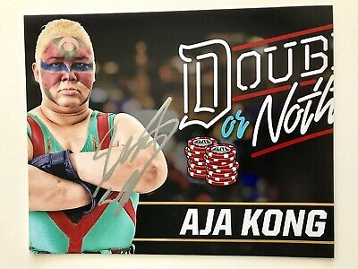 AEW Aja Kong Autographed 8x10 Photo Signed All Elite Wrestling Double Or Nothing