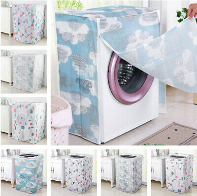Home Washing Machine Dryer Cover Zippered Roller Dustproof Sunscreen Waterproof