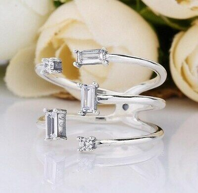 Sterling Silver Ring Shards of Sparkle With CZ Rings For Women