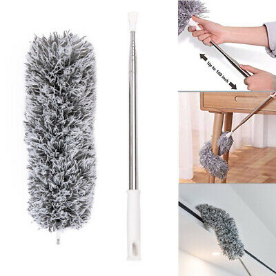 Microfiber Duster Cleaning Brush Dust Cleaner Extendable Handle Soft Flexible