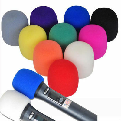Microphone Foam Cover-Music Speaker Covers Handheld Karaoke Mic DJ Windshield✓UK