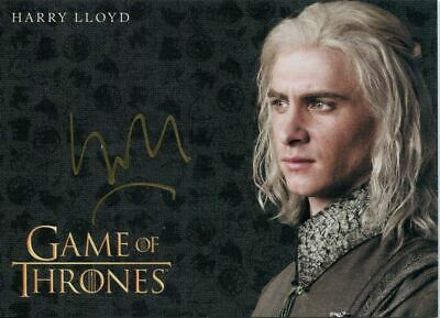 Game Of Thrones Inflexions Gold Autograph Card Harry Lloyd as Viserys Targaryen