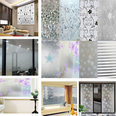 Bedroom Bathroom Home Glass Window Door Privacy Film Sticker Frosted two types