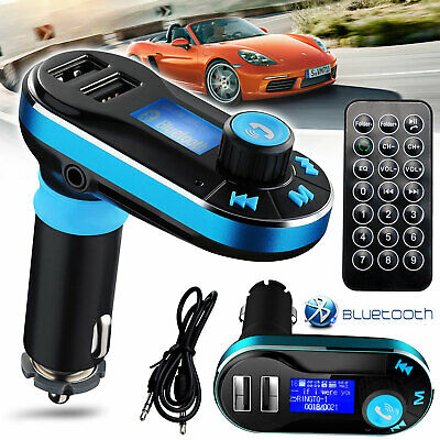 Bluetooth Car Kit MP3 Player FM Transmitter SD USB Charger For iPhone Samsung OZ