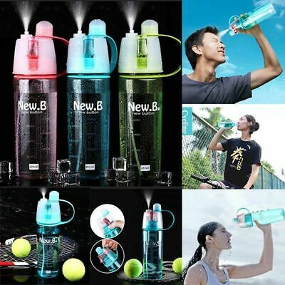 400~600ML Protable Water Bottle With Straw Drinks Spray Cup Hiking Cycling Sport
