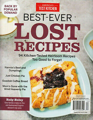 America's Test Kitchen Best-Ever Lost Recipes 2019 Heirloom - FREE SHIPPING