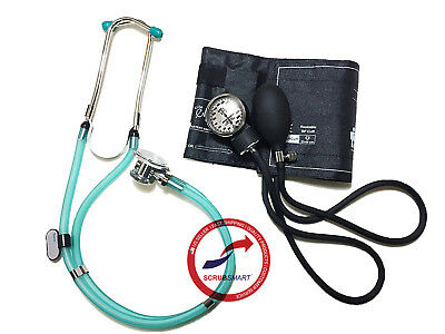 Sea Foam #340 SET Manual Blood Pressure Sphygmomanometer & Sprague Stethoscope