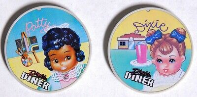 P0798. Vintage: Dixie's Diner DIXIE & PATTY DOLL COINS From Tyco (1980s)