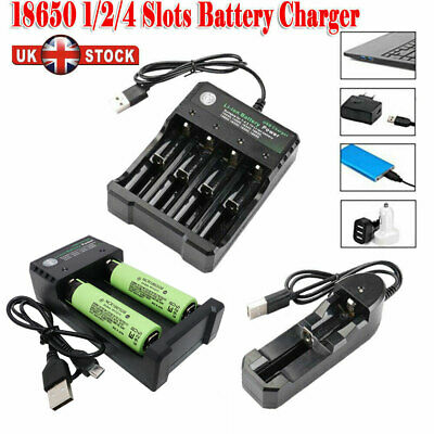 18650 Panasonic Battery 3400mAh Li-ion Rechargeable High Drain with USB Charger
