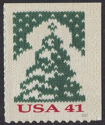 US 4208 Holiday Knits Christmas Tree 41c single (1 stamp of booklet 20) MNH 2007