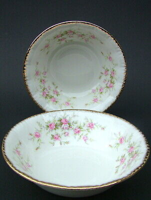 TWO Paragon Royal Albert Victoriana Rose Cereal Dessert Bowls 17cm - Look in VGC