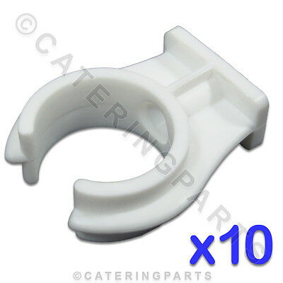 CL103 PACK OF 10 x STANDARD 28mm OPEN PIPE CLIPS SNAP-IN PUSH-FIT TYPE UNIVERSAL