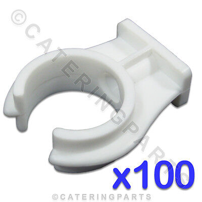 CL102 ELLIS PACK - 100 x HIGH QUALITY 22mm OPEN PIPE CLIPS SNAP-IN PUSH-FIT TYPE