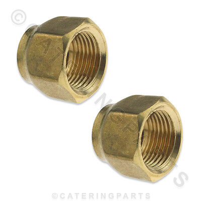 "PKT 2 x 1/2"" SHORT FLARE NUTS FOR REFRIGERATION PIPEWORK COPPER TUBE SOFT TUBING"