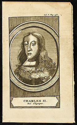 1710 - Portrait of Charles II King of Espagne. Engraving