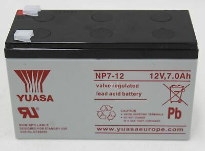 YUASA NP7-12 Valve Regulated Rechargeable Sealed Lead Acid Battery 12V 7Ah NEW