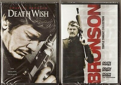 Death Wish Collection 1, 2, 3 & 4 - DVD Movie Pack Charles Bronson BRAND NEW