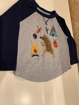 Gymboree Baby Boy Size 18-24 Months Long Sleeve Top Camping