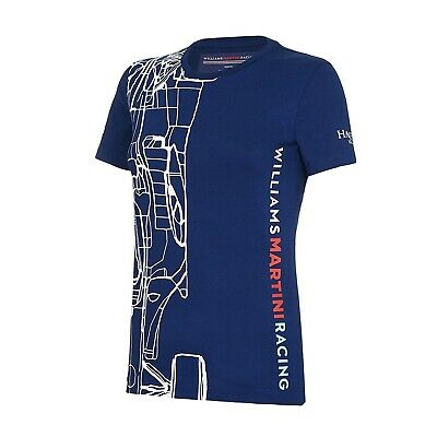T-SHIRT Ladies Williams Martini F1 Formula One 1 NEW! Mercedes OUTLINE Tee