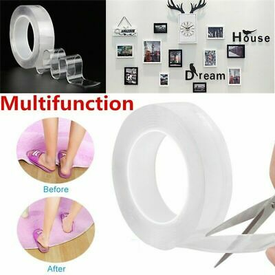 US Reusable Magic Nano Tape Double Sided Traceless Adhesive Clear Tape Removable