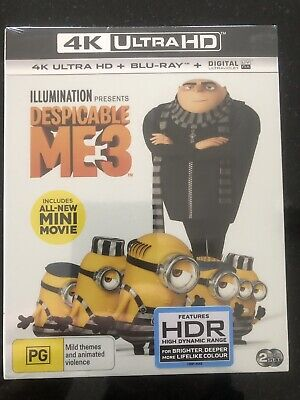 Despicable Me 3****4K Ultra Hd Blu-Ray****Region Free****New & Sealed