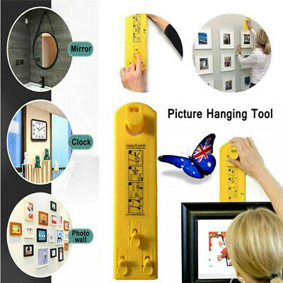 Easy Picture Frame Hanger Level Tools Photo Clock Mirror Hanging Home Decor