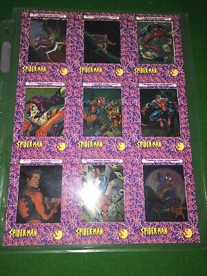 2002 Spiderman Filmcardz 9 Card Uncut Sheet Panel