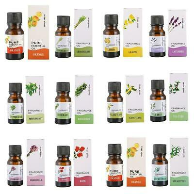 100% Pure Natural 10ml Essential Oils Carrier Oil Aromatherapy Grade Health Z3A0