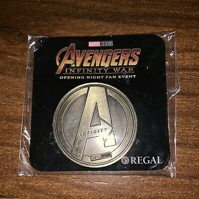 Avengers Infinity War Opening Night Fan Event Coin GOLD Unopened