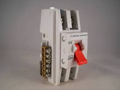 Crabtree SB6000 100 Amp Main Switch Disconnector 100A Double Pole Isolator