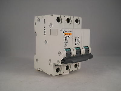 Merlin Gerin MCB 20 Amp Triple Pole 3 Phase Breaker Type C 20A C60HC320 25674