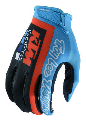 Troy Lee Designs Air KTM Hombre Equipo MX Offroad Guantes Marino / Cian
