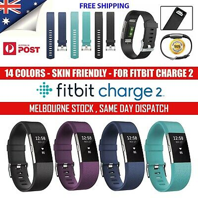 Fitbit Charge 2 Silicone Band Replacement Wristband Watch Strap Bracelet AU Lot