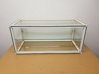 Vintage Retro Glass Table Counter Top Display Unit Cabinet Shop Retail