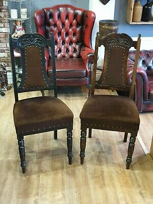 Pair Of Antique Mahogany Dining Chairs