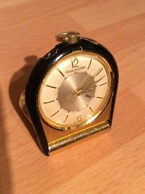 Vintage 1960s Jaeger Le Coultre Memovox  Pocket Travel Alarm Clock