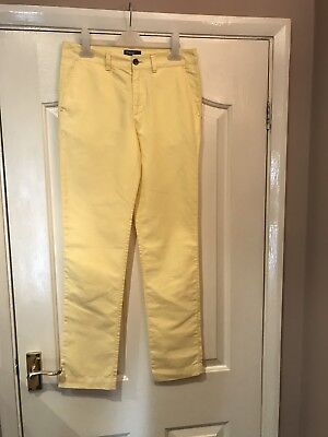 Genuine Girl's  Ralph Lauren Trousers Age 14 Yellow Cotton Excellent Condition