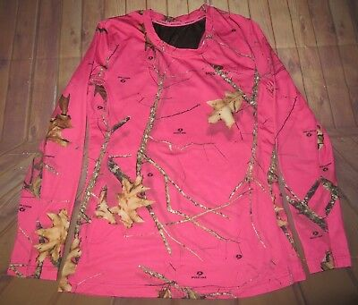 563c0859945ba Mossy Oak Hunting Long Sleeve Shirt Womens Medium Pink Real Tree Camouflage  Camo