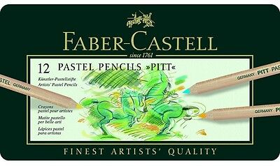 Faber Castell - Pitt Pastel- Artists Quality Pencils - 12 Set