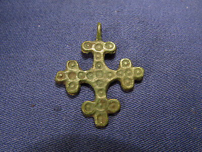 Ancient Bronze Cross. 9th to the mid-13th century. Rare!