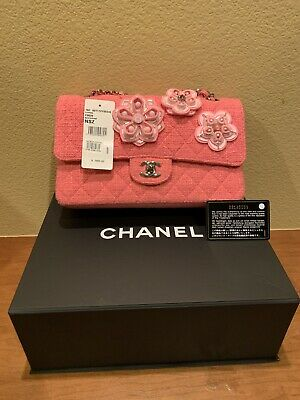 14ccd9933f583f Chanel Authentic Cruise Collection LIMITED EDITION Pink Tweed purse A01112